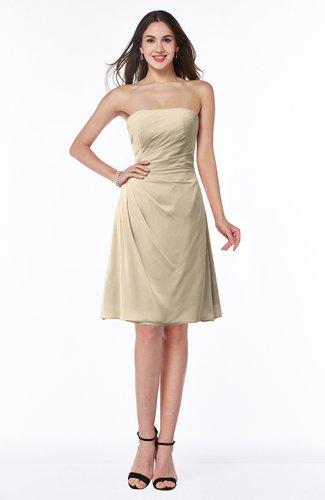 Gorgeous A-line Strapless Zipper Knee Length Plus Size Bridesmaid Dresses
