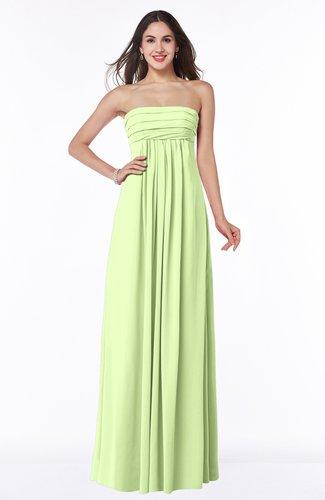 Modern Empire Strapless Zip up Chiffon Floor Length Plus Size Bridesmaid Dresses