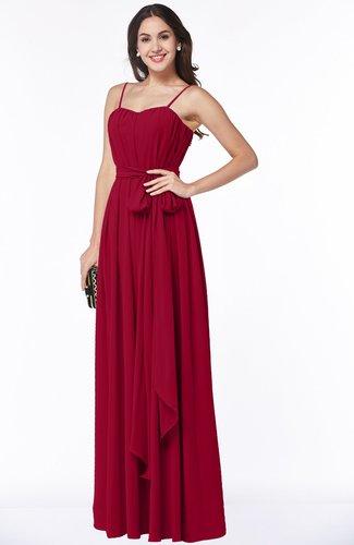 Glamorous A-line Spaghetti Chiffon Floor Length Plus Size Bridesmaid Dresses