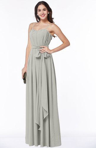 Glamorous A-line Spaghetti Chiffon Floor Length Plus Size Bridesmaid Dresses