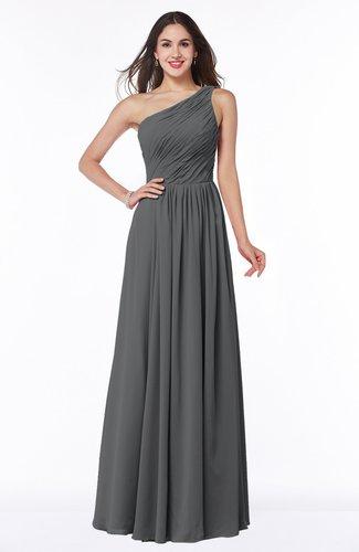 Elegant A-line Sleeveless Chiffon Floor Length Ruching Plus Size Bridesmaid Dresses