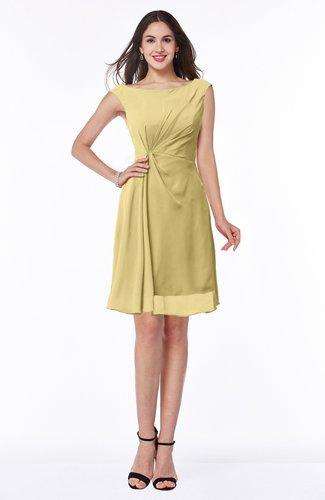 Glamorous Bateau Half Backless Chiffon Knee Length Ruching Plus Size Bridesmaid Dresses