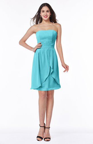 Glamorous A-line Strapless Sleeveless Ruffles Plus Size Bridesmaid Dresses