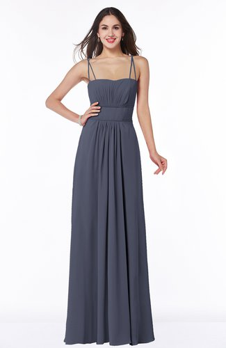 Sexy Spaghetti Sleeveless Chiffon Floor Length Ruching Plus Size Bridesmaid Dresses