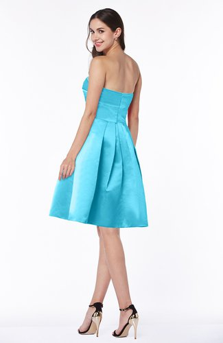 Turquoise Romantic Strapless Sleeveless Knee Length Ruching Plus Size  Bridesmaid Dresses