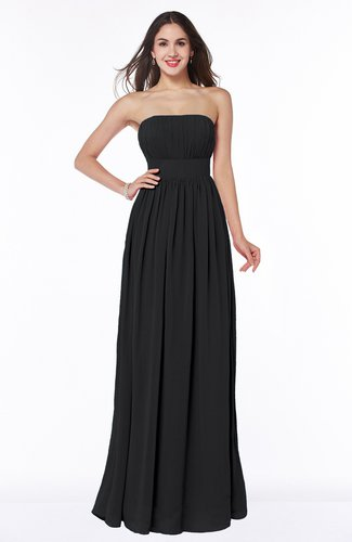 Elegant A-line Sleeveless Floor Length Ruching Plus Size Bridesmaid Dresses