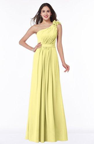 Sexy One Shoulder Chiffon Floor Length Sash Plus Size Bridesmaid Dresses