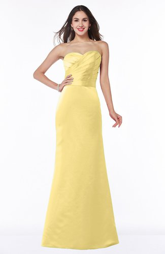 Elegant Column Strapless Sleeveless Zipper Ruching Bridesmaid Dresses