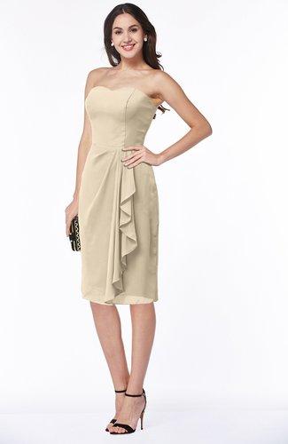 Plain Sheath Sweetheart Zip up Chiffon Ruffles Plus Size Bridesmaid Dresses