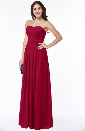 Simple A-line Sleeveless Chiffon Floor Length Plus Size Bridesmaid Dresses