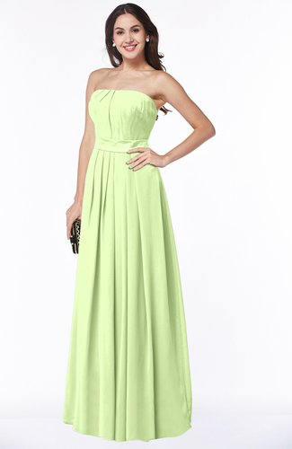 Glamorous A-line Strapless Sleeveless Half Backless Floor Length Plus Size Bridesmaid Dresses