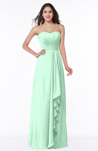 Modern Sweetheart Sleeveless Floor Length Ruching Plus Size Bridesmaid Dresses