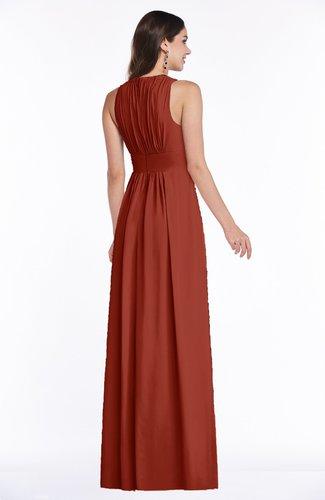 a2ded8c1b98 ... Modest Sleeveless Zipper Chiffon Floor Length Ruching Plus Size Bridesmaid  Dresses