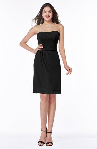 Mature A-line Sleeveless Zipper Chiffon Knee Length Plus Size Bridesmaid Dresses