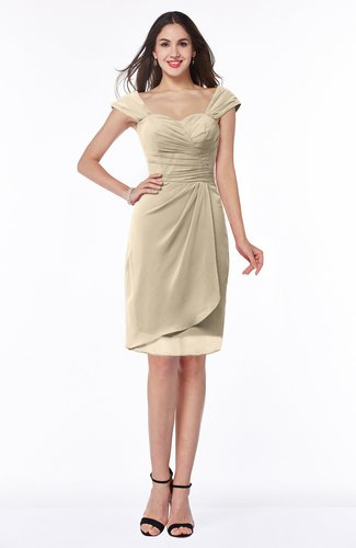 Romantic Sheath Sweetheart Chiffon Knee Length Ruching Plus Size Bridesmaid Dresses