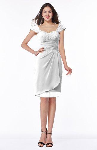 Romantic Sheath Sweetheart Chiffon Knee Length Ruching Plus Size Bridesmaid Dresses