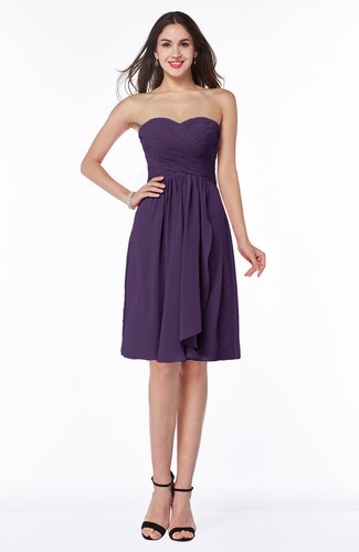 Glamorous A-line Sweetheart Sleeveless Zipper Knee Length Plus Size Bridesmaid Dresses