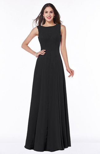 Classic A-line Bateau Sleeveless Zipper Plus Size Bridesmaid Dresses