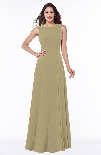 Classic A-line Bateau Sleeveless Zipper Plus Size Bridesmaid Dresses