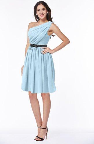 Modern Zipper Chiffon Knee Length Sash Plus Size Bridesmaid Dresses