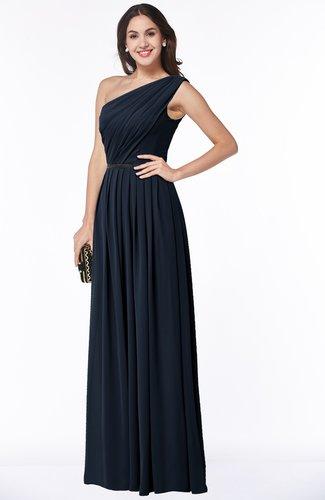 Traditional Asymmetric Neckline Sleeveless Zip up Chiffon Floor Length Plus Size Bridesmaid Dresses