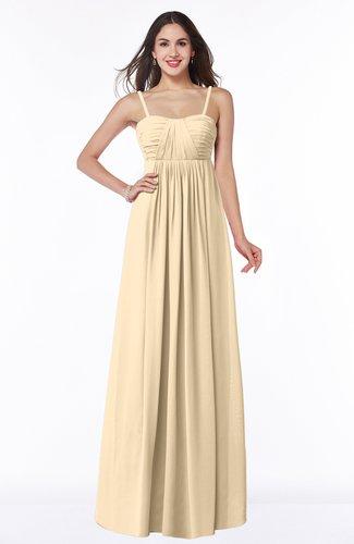 Classic Spaghetti Sleeveless Chiffon Floor Length Plus Size Bridesmaid Dresses