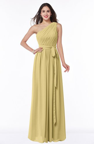 Casual Asymmetric Neckline Zipper Floor Length Ribbon Plus Size Bridesmaid Dresses