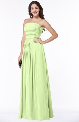 Modest A-line Sleeveless Chiffon Floor Length Ruching Plus Size Bridesmaid Dresses
