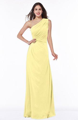 Elegant A-line Sleeveless Half Backless Chiffon Draped Plus Size Bridesmaid Dresses
