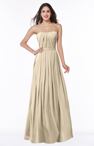 Simple Strapless Sleeveless Zip up Chiffon Ruching Plus Size Bridesmaid Dresses