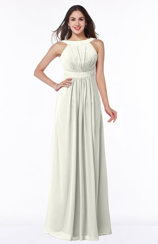 Modest A-line Sleeveless Zip up Chiffon Sash Plus Size Bridesmaid Dresses