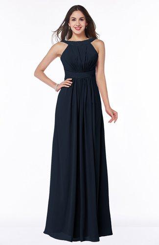 Modest A-line Sleeveless Zip up Chiffon Sash Plus Size Bridesmaid Dresses
