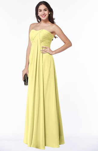 Glamorous A-line Strapless Zip up Floor Length Pleated Plus Size Bridesmaid Dresses