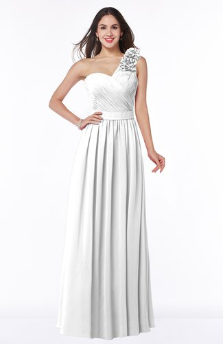 Traditional A-line Sleeveless Zipper Chiffon Flower Bridesmaid Dresses