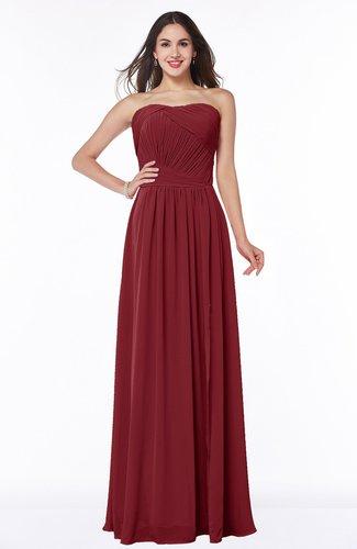 Modern A-line Strapless Sleeveless Chiffon Plus Size Bridesmaid Dresses