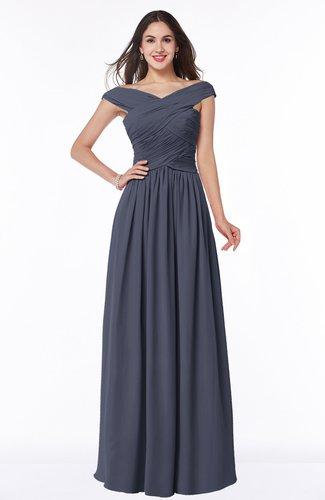 Traditional A-line Sleeveless Chiffon Floor Length Plus Size Bridesmaid Dresses