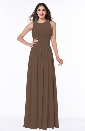 Elegant A-line Sleeveless Zipper Chiffon Plus Size Bridesmaid Dresses