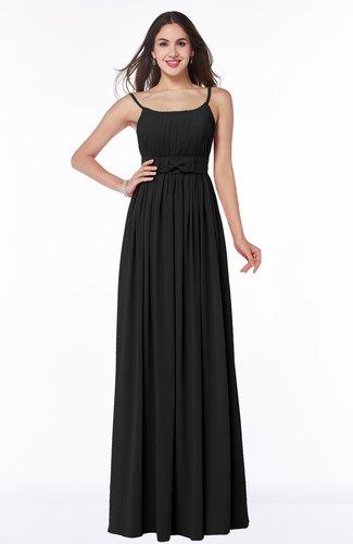 Glamorous A-line Sleeveless Half Backless Chiffon Floor Length Plus Size Bridesmaid Dresses