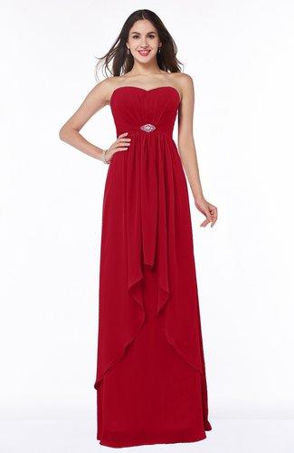 Sexy A-line Sweetheart Sleeveless Zipper Plus Size Bridesmaid Dresses