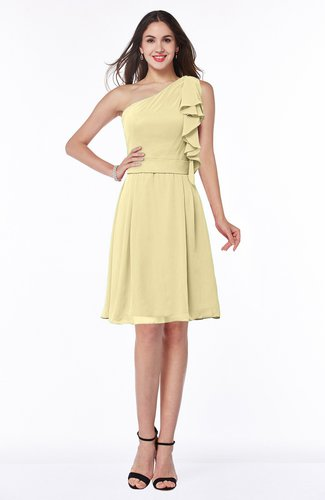 Elegant A-line One Shoulder Sleeveless Half Backless Mini Plus Size Bridesmaid Dresses