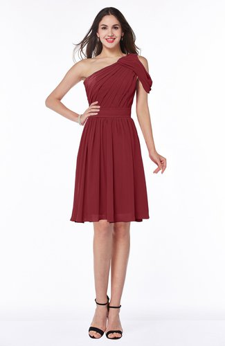 Plain A-line Sleeveless Half Backless Mini Ruching Plus Size Bridesmaid Dresses