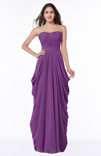 Cinderella Half Backless Chiffon Floor Length Ruching Plus Size Bridesmaid Dresses