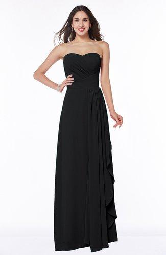 Mature A-line Sleeveless Chiffon Floor Length Bridesmaid Dresses