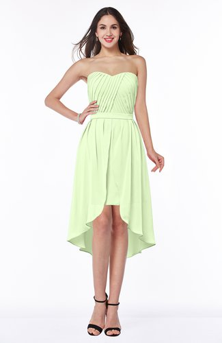 Informal A-line Sleeveless Half Backless Asymmetric Bridesmaid Dresses