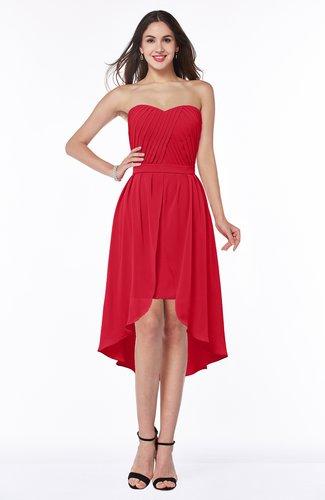 Informal A-line Sleeveless Half Backless Asymmetric Bridesmaid Dresses