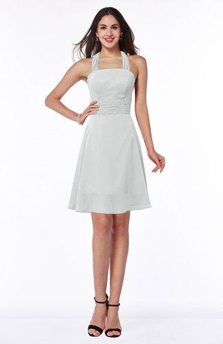Cute Halter Sleeveless Half Backless Mini Plus Size Bridesmaid Dresses