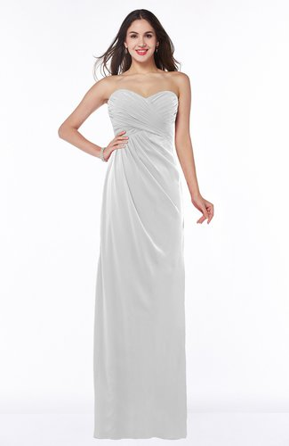 Sexy Sheath Strapless Half Backless Floor Length Pleated Plus Size Bridesmaid Dresses