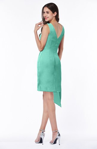 Mint Green Cute A-line Sleeveless Chiffon Ruching Plus Size Bridesmaid  Dresses