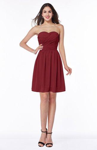 Cute A-line Sleeveless Zipper Short Ribbon Plus Size Bridesmaid Dresses