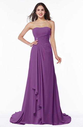 Vintage A-line Sleeveless Sweep Train Rhinestone Plus Size Bridesmaid Dresses